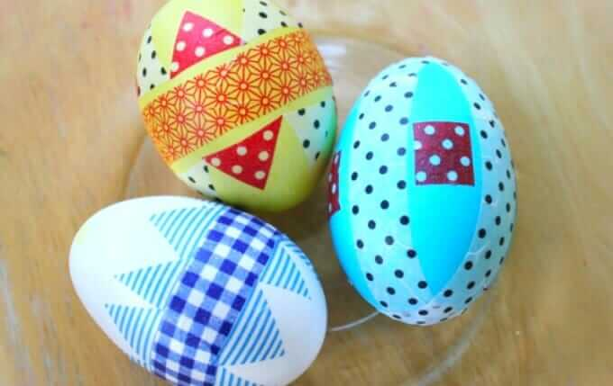 Washi Tape Easter Eggs - Decorating Method 2