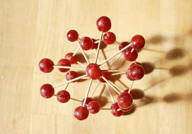 Edible Art – Grape & Toothpick Sculptures
