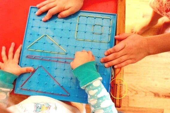Kids Art with Geoboards
