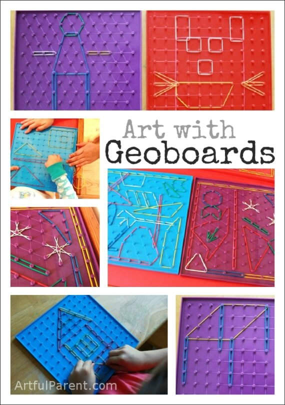Kids Art with Geoboards