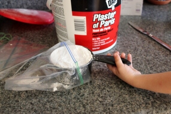 Plaster Casting with Playdough Molds