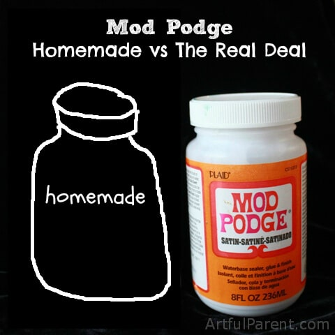 Homemade Mod Podge vs The Real Deal Face Off