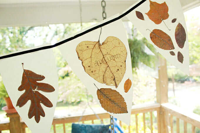 How to Make An Autumn Leaf Bunting
