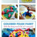 Colored Foam Paint for Kids :: Better Than Shaving Cream for Art and Sensory Play