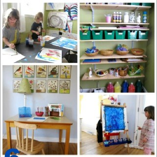 Art Space for Kids :: 6 Simple Ways to Make a Creativity-Inspiring Space