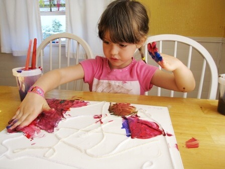 Yarn Paintings with Kids 3
