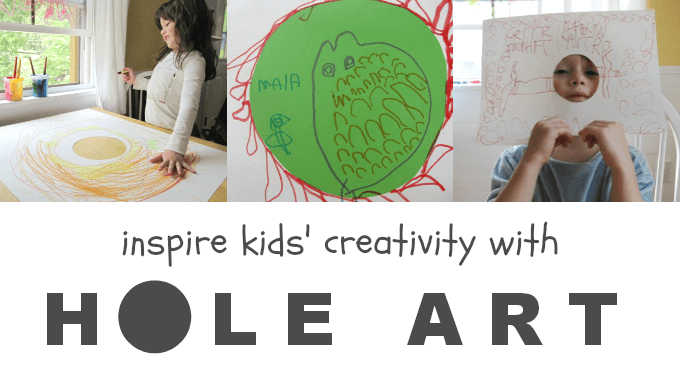 Inspire your kids creativity with hole challenge drawing activities and papers