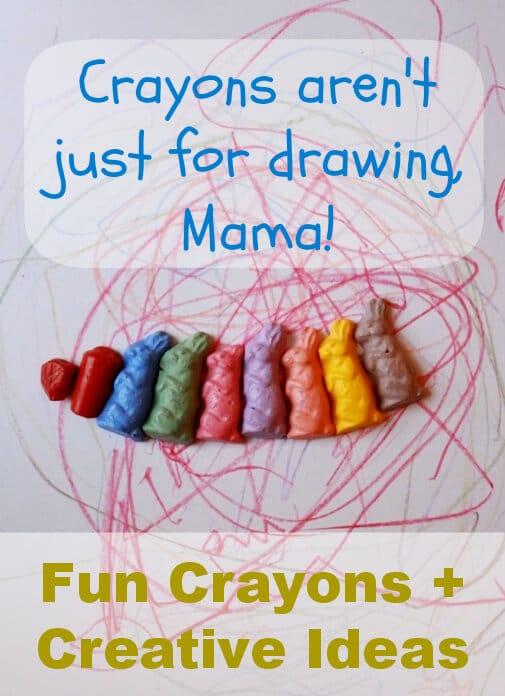 Fun shaped crayons for creative drawing