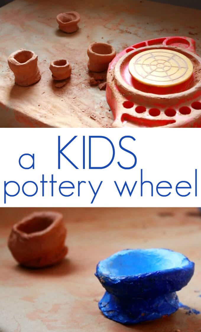 A Kids Pottery Wheel For Making Pots To Air Dry And Paint