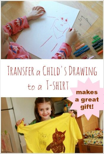t shirt transfers iron a fave child 39 s drawing onto a t