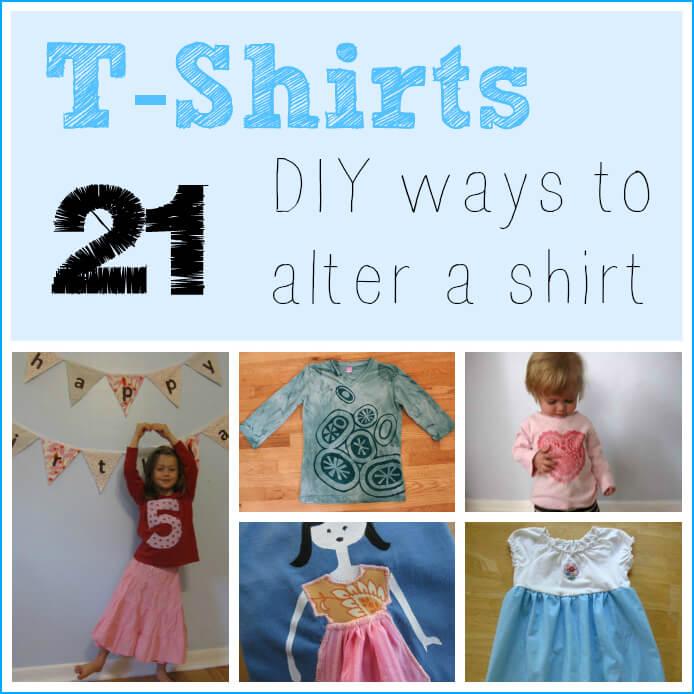 T-Shirts -- 21 Fun, DIY Ways to Alter a Shirt