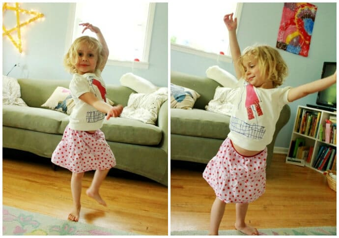 Daphne Dancing in Her New Shirt
