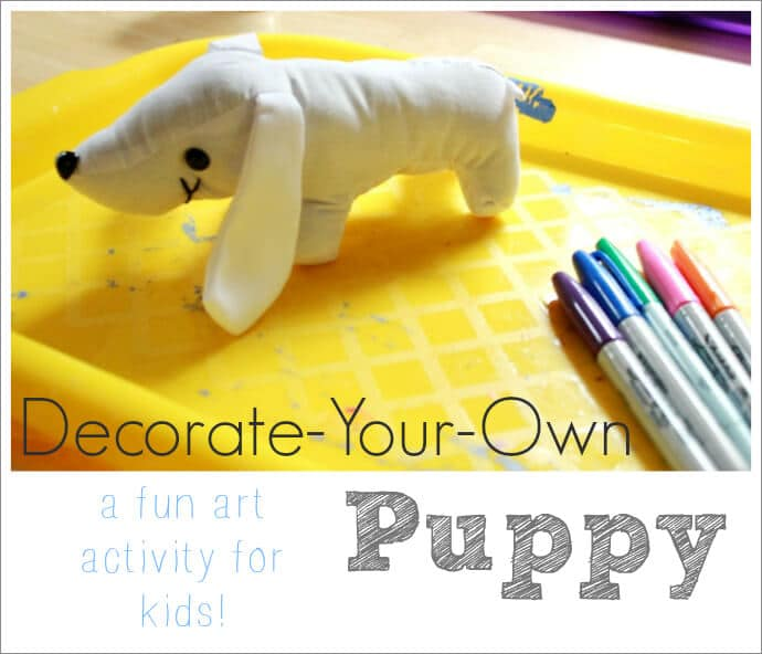 Decorate Your Own Puppy Dog -- A Fun Art Activity for Kids!