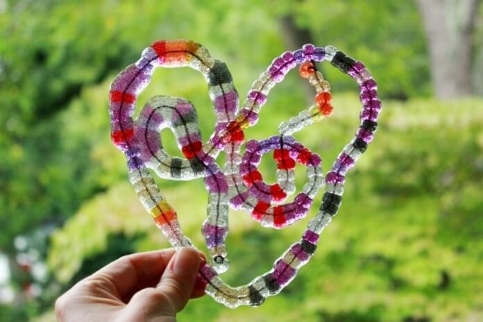 Melted Bead Stained Glass Suncatchers 05