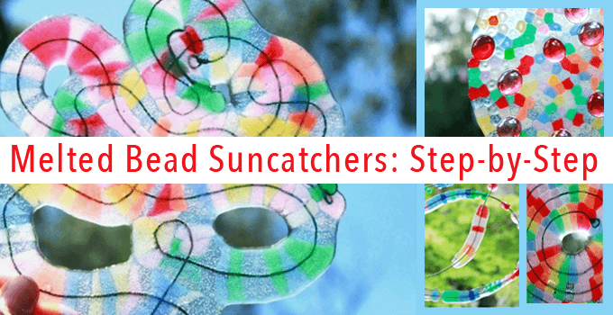 melted pony bead suncatchers step-by-step