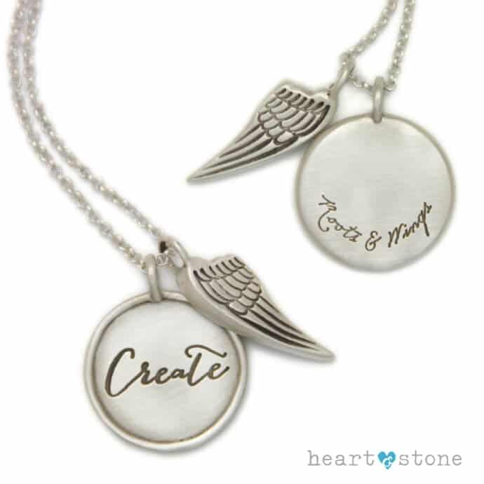 Create Roots and Wings Charm Necklace by Heart and Stone Jewelry