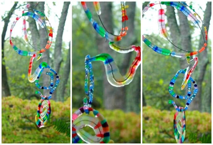 Melted bead suncatchers 7 new ways for Bead craft ideas for kids