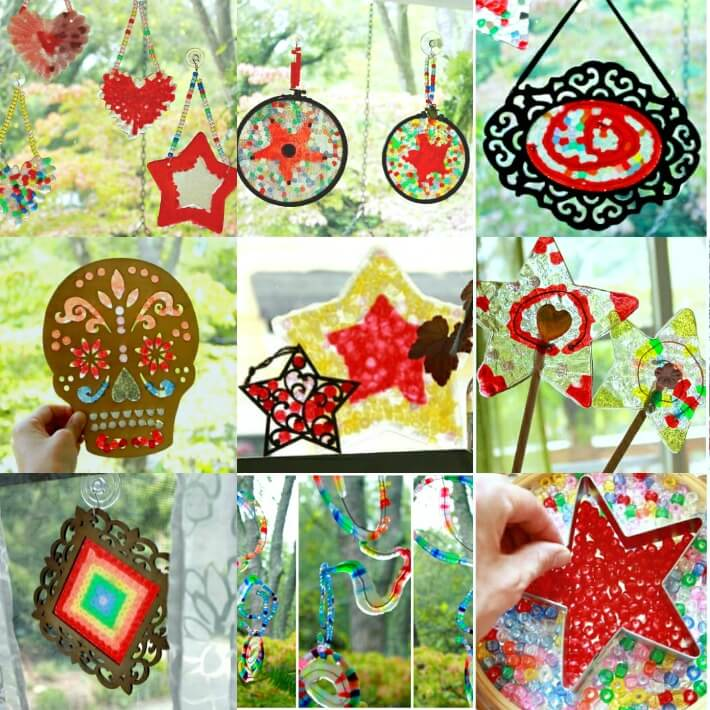 7 New Ways to Make Homemade Suncatchers with Plastic Beads