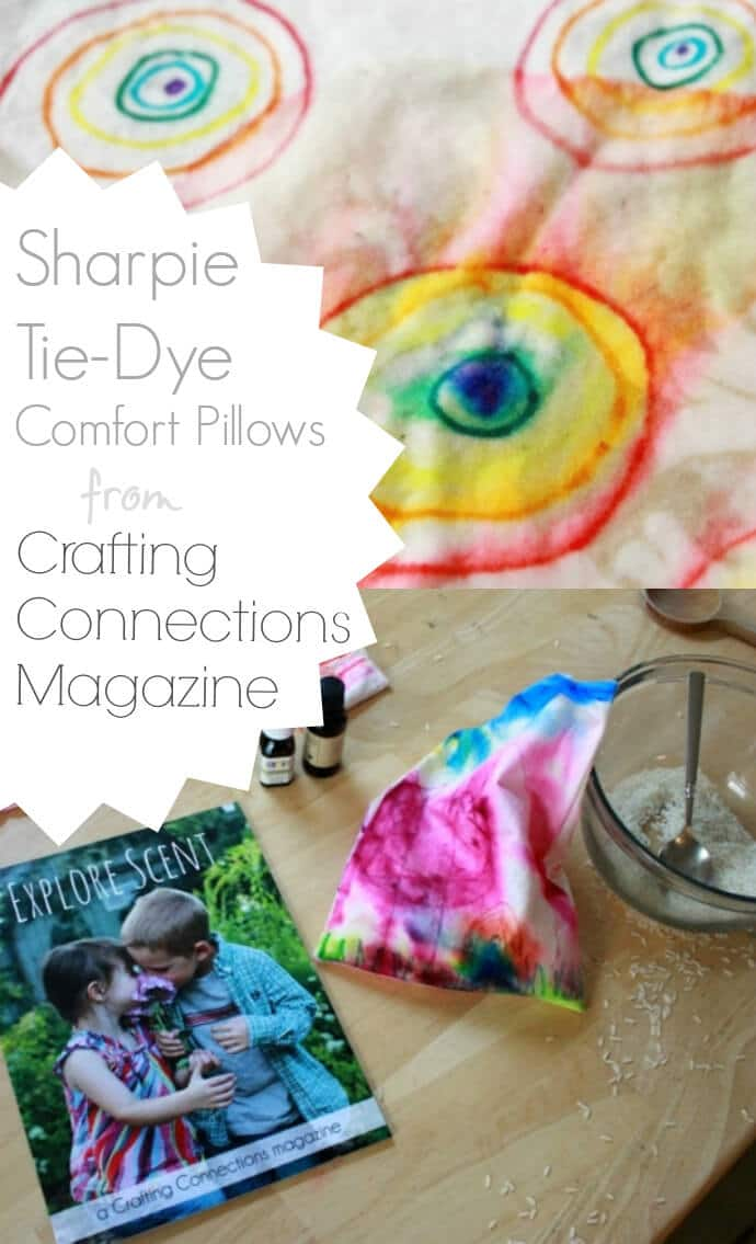 Sharpie Tie Dye Comfort Pillows from Crafting Connections Magazine
