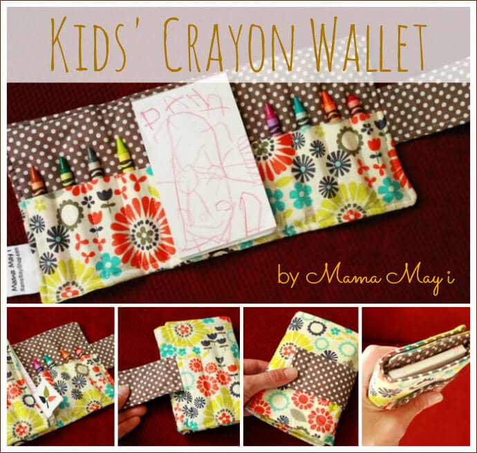 Kids Crayon Wallet by Mama May i Shop