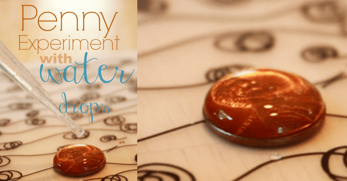 Penny Experiment with Water Drops
