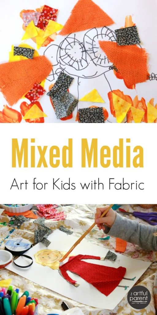 Mixed Media Art for Kids with Fabric