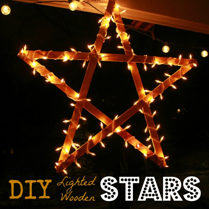 11 Christmas Craft Ideas for Kids - Lighted Wooden Stars