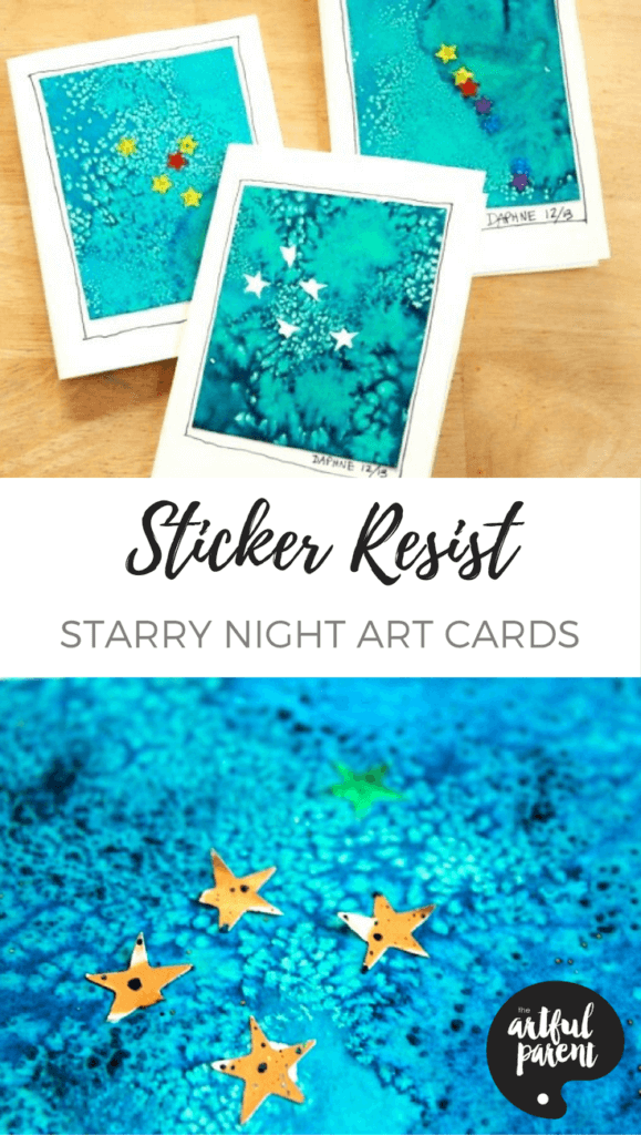 Starry Night Art Cards - Pinterest