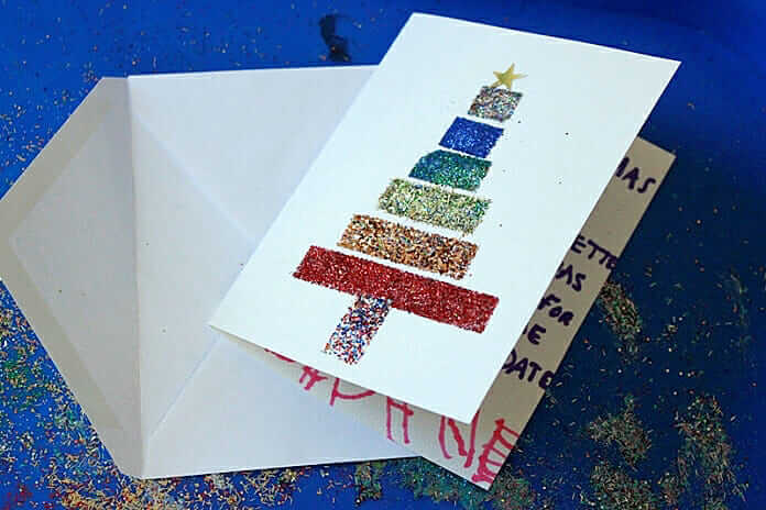 DIY Glitter Tape Cards -- Handmade Christmas Cards