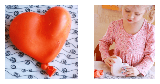 Plaster Balloon Heart Sculptures with Kids