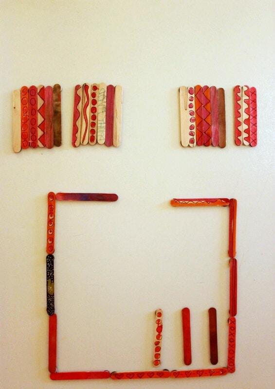 DIY Painted Magnet Sticks for Kids