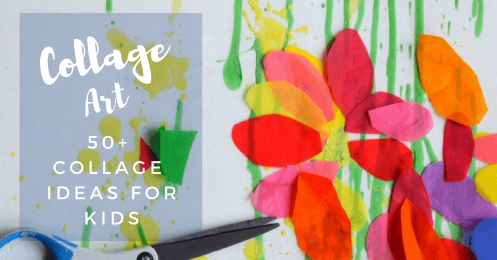 Collage art ideas for kids 50 fun collage activities for Painting ideas for 4 year olds