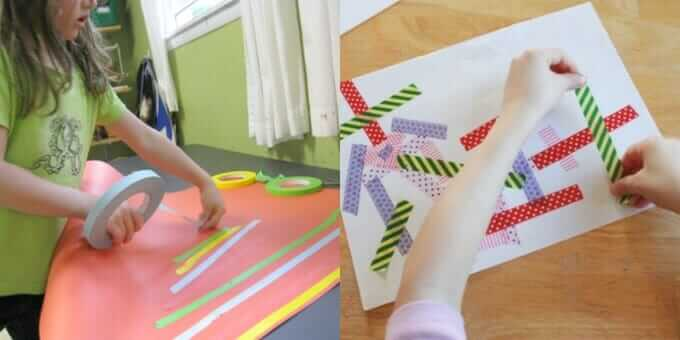 Collage Art Ideas for Kids with Tape