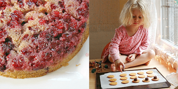 Cooking with Kids – Cranberry Upside Down Cake and Rollo-Ritz Cookies
