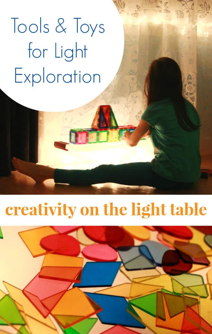 Tools and Toys for Light Exploration -- Creativity on the Light Table