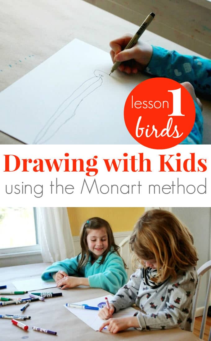 Drawing with Kids using the Monart Method - Lesson 1 Birds