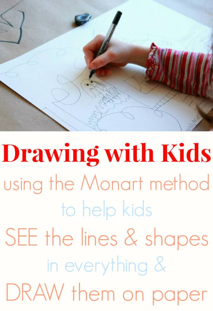 Line Drawing Using Direct Method : Drawing with kids using the monart method artful parent