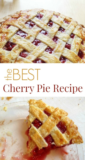This is the best cherry pie recipe period if you want to use canned tart cherries. As a baker and cherry pie lover, I've fiddled with various recipes & modifications over time. #cherrypie #cherries #cherrypierecipe #pies #summerpie