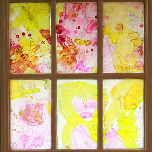Spring Stained Glass Art for kids