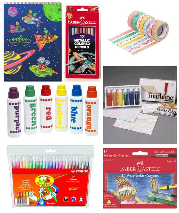Art Materials for Kids Easter Baskets