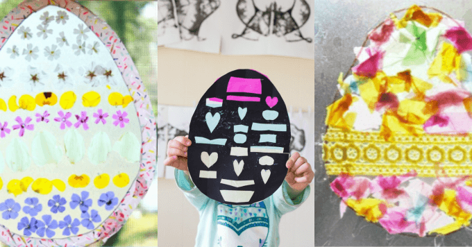 Easter Craft Ideas for Kids - Easter Egg Suncatchers