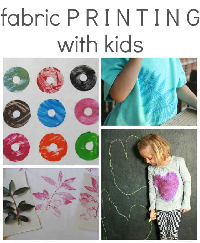 Fabric Printing with Kids