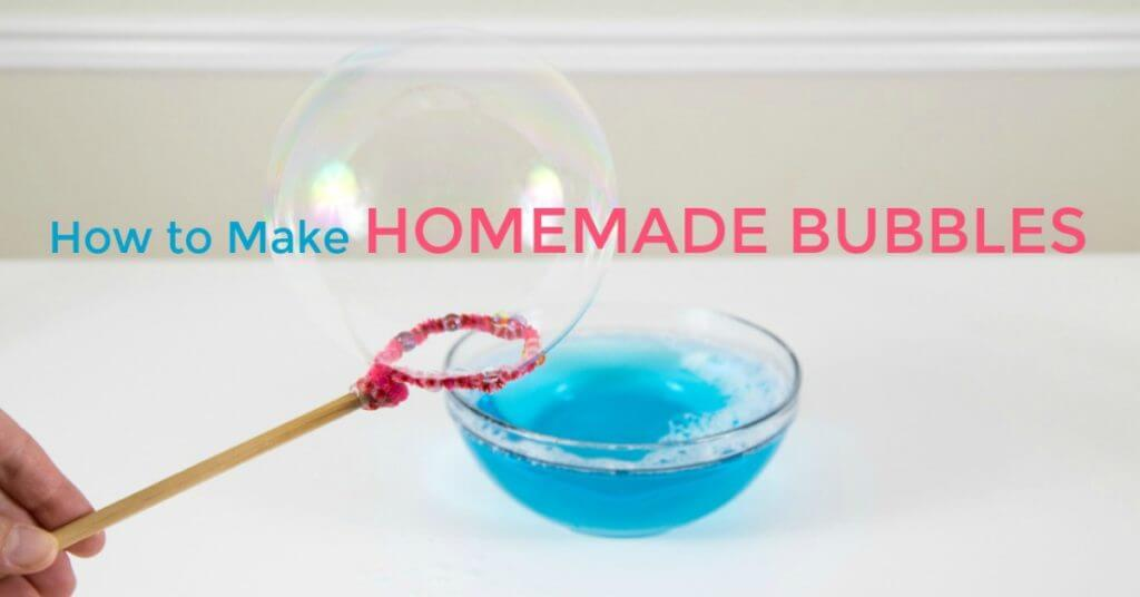 How to Make Homemade Bubbles - The Easiest Bubble Recipe Ever
