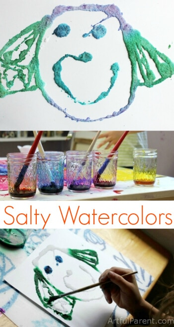 Salty Watercolors - A Fun Kids Art Project