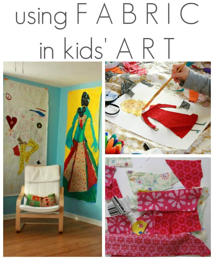 Using Fabric in Kids Art