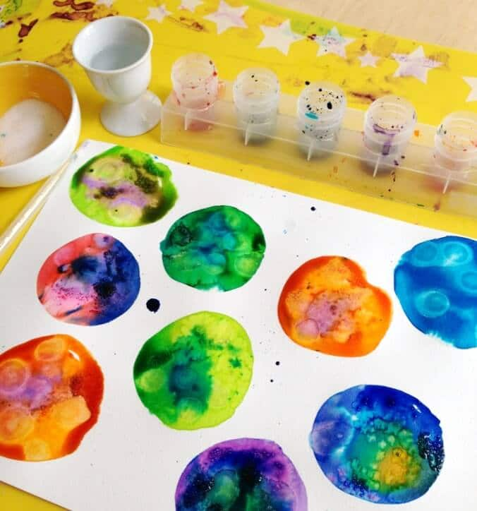 Watercolor Techniques for Kids circles