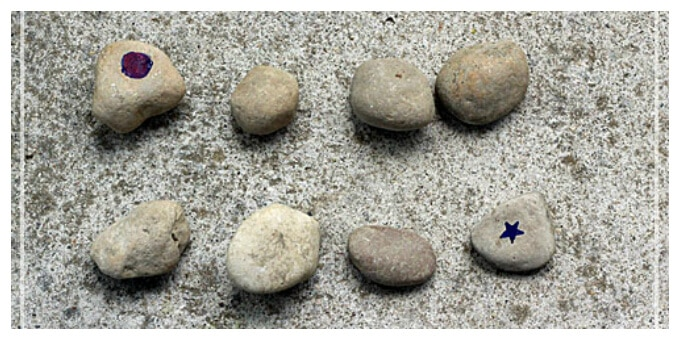 DIY Outdoor Games with Rocks - A Rock Memory Game
