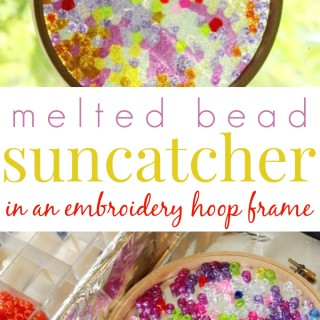 Make Plastic Bead Suncatchers in an Embroidery Hoop Frame