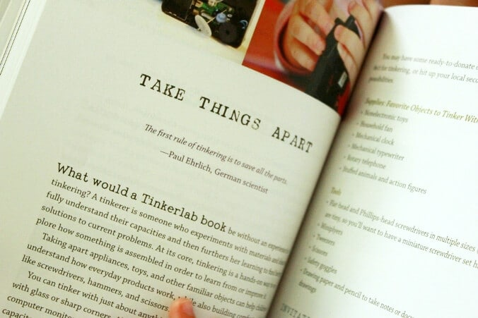 Tinkerlab Book Review - Take things apart