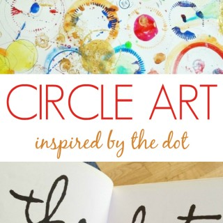 Circle Art :: An Open Ended Art Activity for Kids